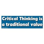 Critical Thinking Bumper Sticker