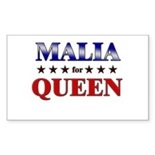 MALIA for queen Rectangle Decal