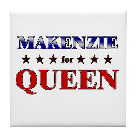 MAKENZIE for queen Tile Coaster