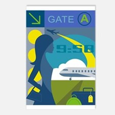 Mod Travel Girl Postcards (Package of 8)