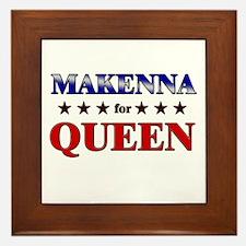 MAKENNA for queen Framed Tile