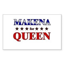 MAKENA for queen Rectangle Decal