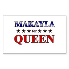 MAKAYLA for queen Rectangle Decal