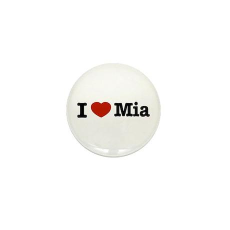 I love Mia Mini Button