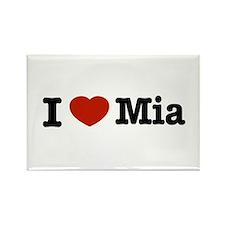 I love Mia Rectangle Magnet