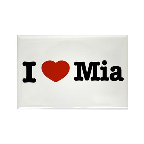 I love Mia Rectangle Magnet (10 pack)