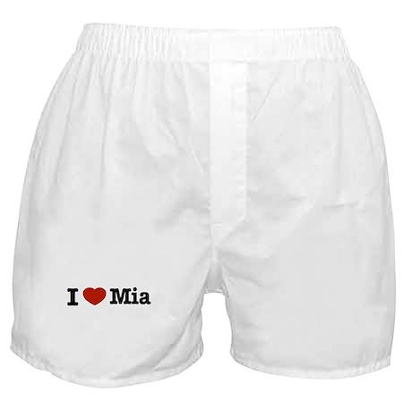 I love Mia Boxer Shorts