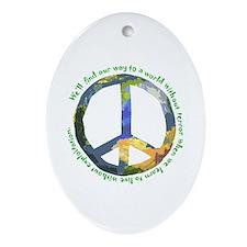Peace Sign Keepsake (Oval)