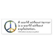 Peace Sign Bumper Bumper Sticker