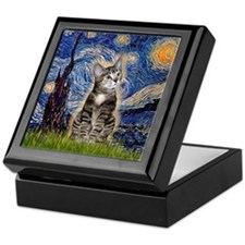 Starry / Tiger Cat Keepsake Box