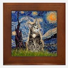 Starry / Tiger Cat Framed Tile