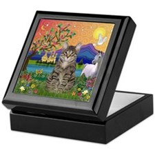 Fantasy Land / Tiger Cat Keepsake Box