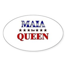 MAIA for queen Oval Decal