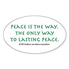 Pacifist Oval Decal