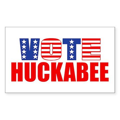 Vote Huckabee (Stars & Stripes) Sticker (Rectangul