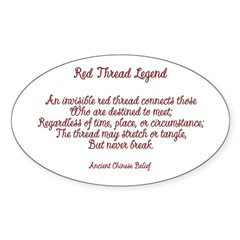 Red Thread Legend Oval Decal