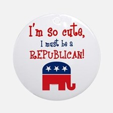 So Cute Republican Ornament (Round)