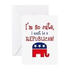 So Cute Republican Greeting Card