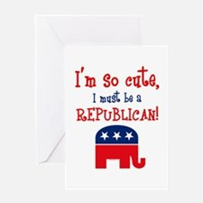 So Cute Republican Greeting Card