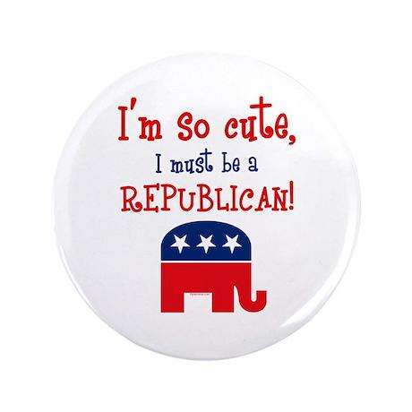 "So Cute Republican 3.5"" Button"