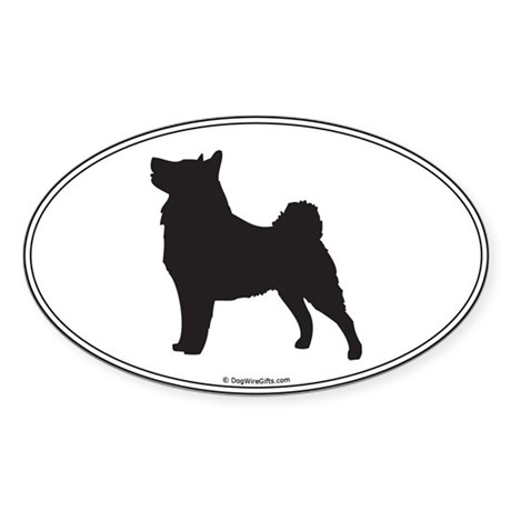Vallhund Silhouette Oval Sticker