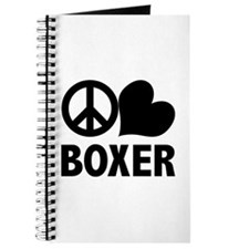 Peace Love Boxer Journal