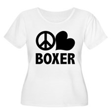 Peace Love Boxer T-Shirt