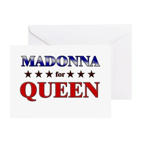 MADONNA for queen Greeting Card