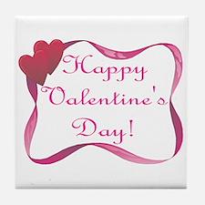 Happy Valentine's Day Tile Coaster