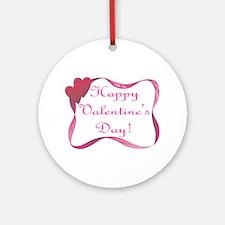 Happy Valentine's Day Ornament (Round)