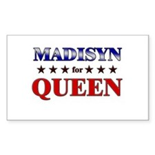 MADISYN for queen Rectangle Decal