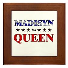 MADISYN for queen Framed Tile