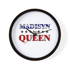 MADISYN for queen Wall Clock