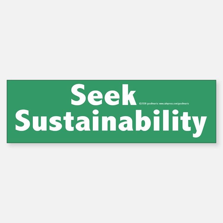 Sustainability Bumper Bumper Bumper Sticker