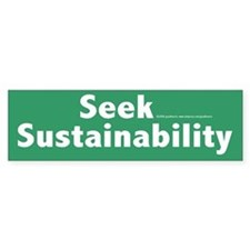 Sustainability Bumper Car Car Sticker