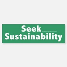 Sustainability Bumper Car Car Sticker