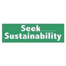 Sustainability Bumper Car Sticker