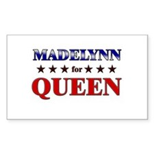 MADELYNN for queen Rectangle Decal