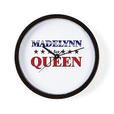 MADELYNN for queen Wall Clock
