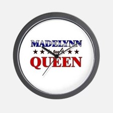MADELYNN for queen Wall Clock