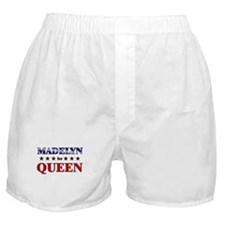 MADELYN for queen Boxer Shorts