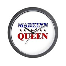MADELYN for queen Wall Clock