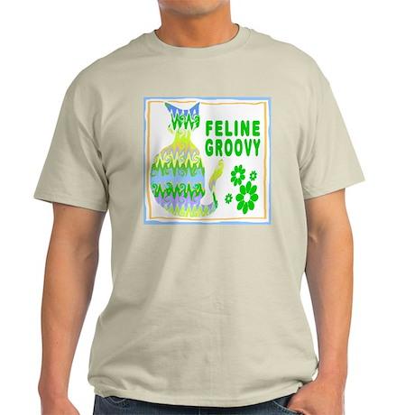 Feline Groovy II Ash Grey T-Shirt