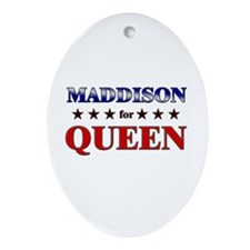 MADDISON for queen Oval Ornament