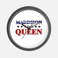 MADDISON for queen Wall Clock
