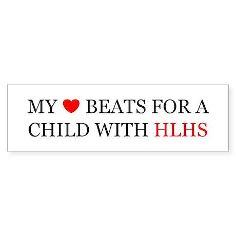 HLHS HEART Bumper Sticker