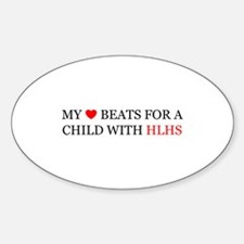 HLHS HEART Oval Decal