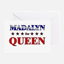 MADALYN for queen Greeting Card