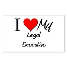 I Heart My Legal Executive Rectangle Decal