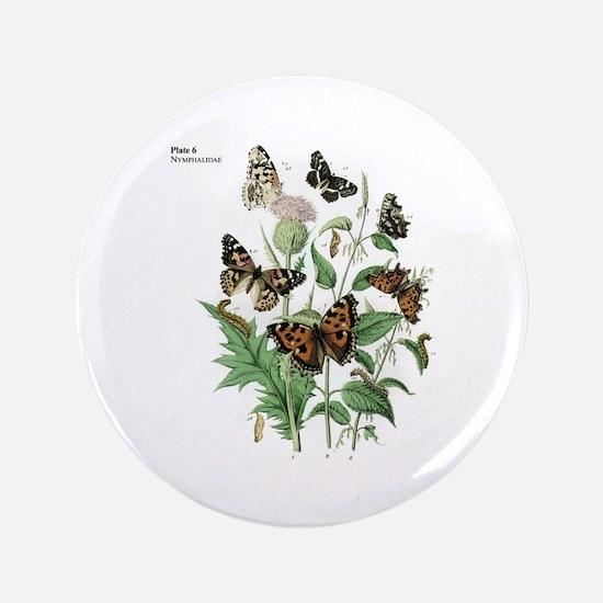 "Butterfly 17 3.5"" Button"